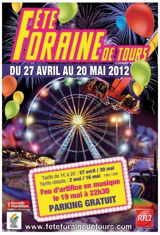 Tours (37) Fête Foraine Du 27 avril au 20 mai 2012