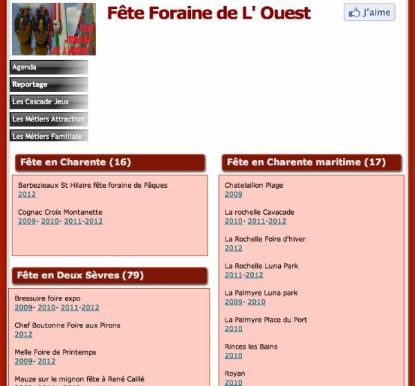 C'est la rentrée nouveau site Fête Foraine de l'ouest se décline !