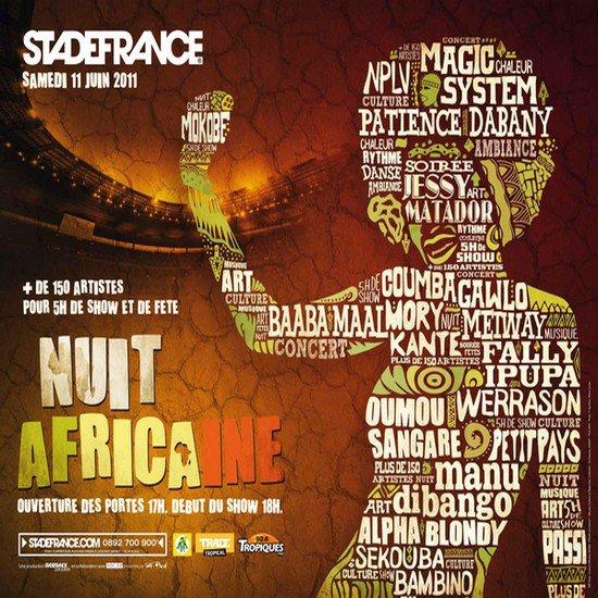 Nuit africaine au stade de france le 11 juin