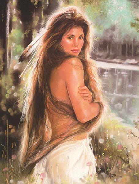 Femme amerindienne