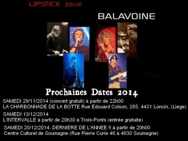 Les 3 dernières dates 2014