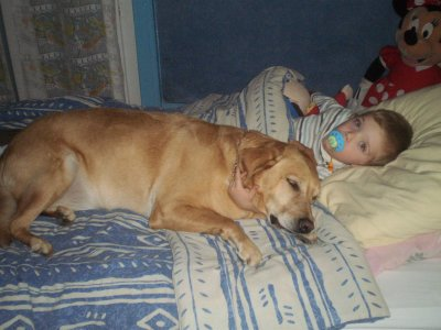 mon fils et sa chienne