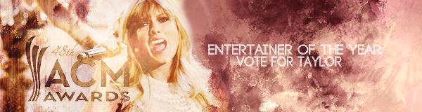 Bannières pour voter Taylor aux ACM