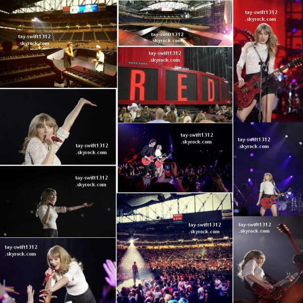 04.05.13 Le concert à Detroit (Michigan) dans le stade Ford Field (son premier stade du Red Tour) + le Club Red