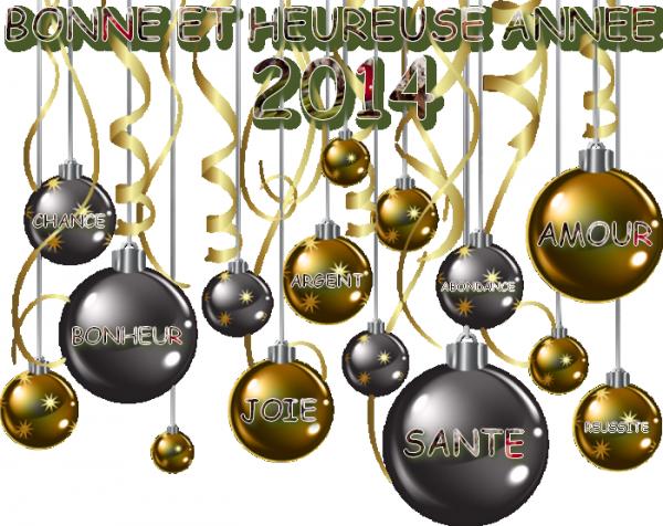 Bonne année & Bonne santé 2014