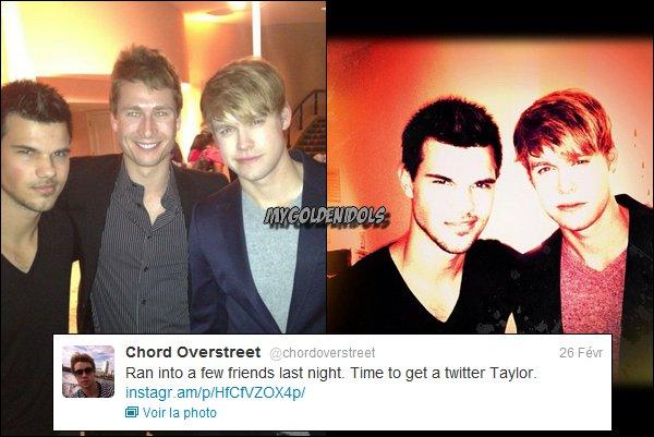 . Voici une photo de Taylor lors de la soirée des Pré-Oscars. Oh my god quoi ! *o* ♥ : .