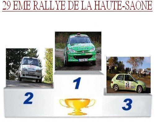 29 EME RALLYE DE LA HAUTE SAONE
