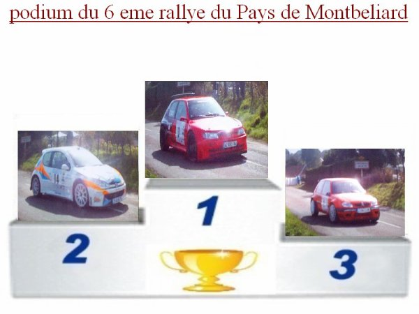 6 EME RALLYE DU PAYS DE MONTBELIARD