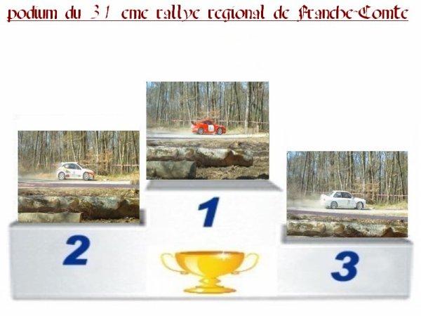 31 EME RALLYE REGIONAL DE FRANCHE-COMTE