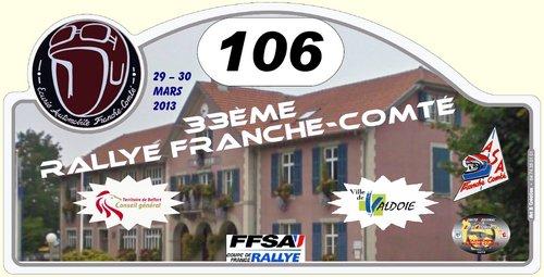 33 EME RALLYE DE FRANCHE-COMTE
