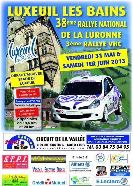 38 EME RALLYE DE LA LURONNE
