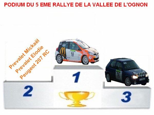 5 EME RALLYE DE LA VALLEE DE L'OGNON