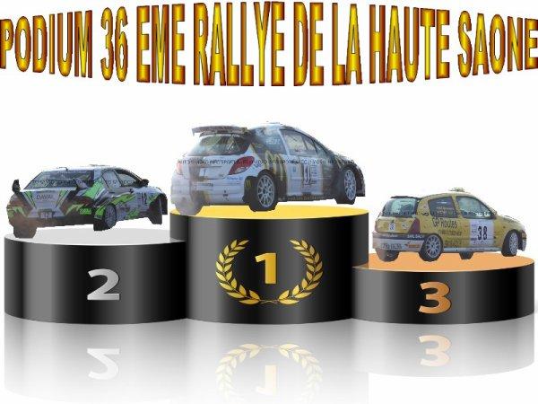 36 EME RALLYE DE LA HAUTE SAONE