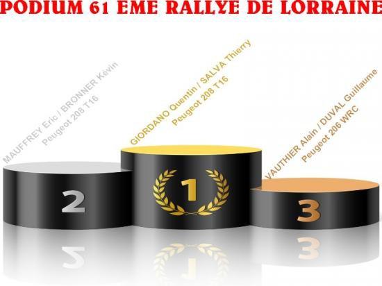 61 EME RALLYE DE LORRAINE
