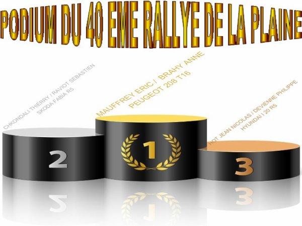 40 EME RALLYE DE LA PLAINE