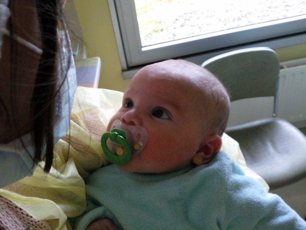 mon bebe et moi a hopital