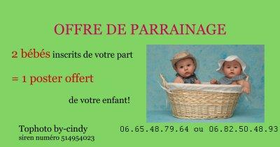 offre de parrainage pour les candidats au concours du plus beau bébé 2010