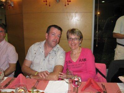 nous deux au restaurant italien