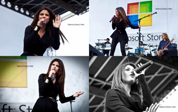 Selena Performs at the Microsoft Store Opening in Costa Mesa