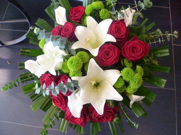 Célèbre Bouquet rouge et blanc - Blog de Fleurs-Laury XB87