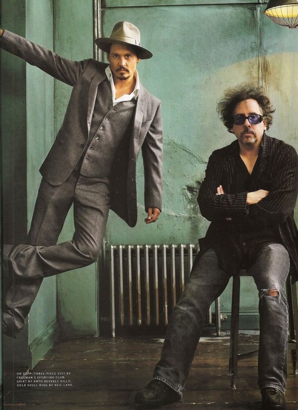 Johnny Depp et Tim Burton