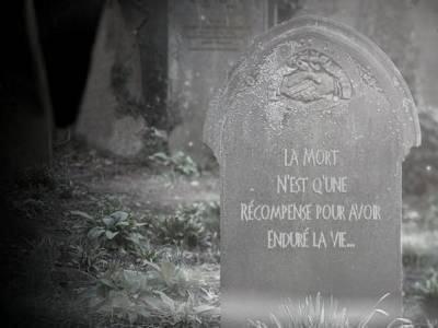 la mort et un beau voyage vu que persone en revien