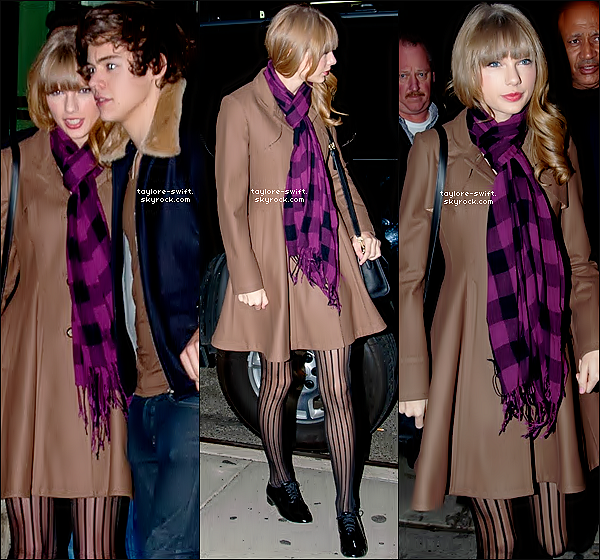 . 06.12.2012 :  Taylor et Harry styles étaient  de sortie et se sont rendus à un restaurant .  .