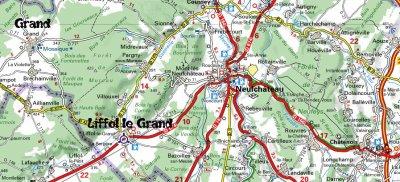 Voila le plan pour venir jusqu'à Liffol de Neufchâteau, ouvert à toutes voitures anciennes pour passer un bon WE