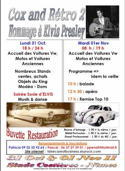Cox And Rétro2 en hommage à Elvis Presley, Nîmes du 29 Oct. au 01er Nov.
