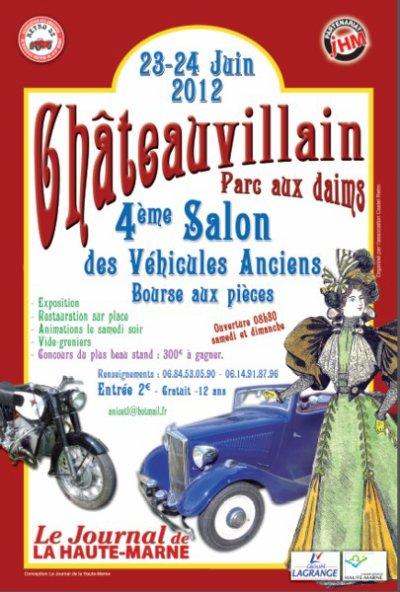 4ème salon des Voitures anciennes de Chateauvillain (dep52)