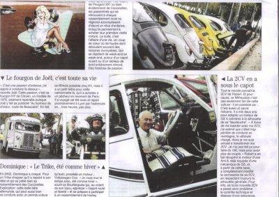 Le midi Libre sur Cox And Rétro du 02 nov 2011