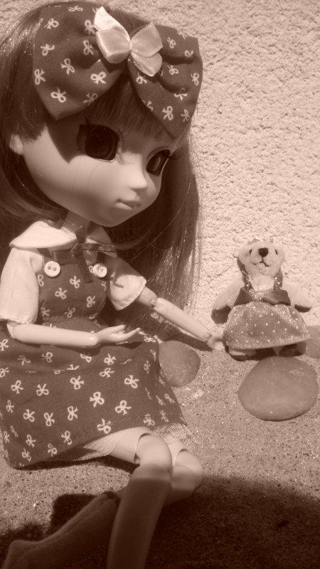 séance de rosa et son doudou