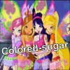 Colored-sugar