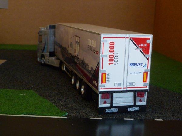 remorque frigo chereau  transport brevet 100.000 eme