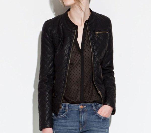 En Zara 2012 info Vinny Cuir oleo Vegetal Homme Veste PwEgqdg