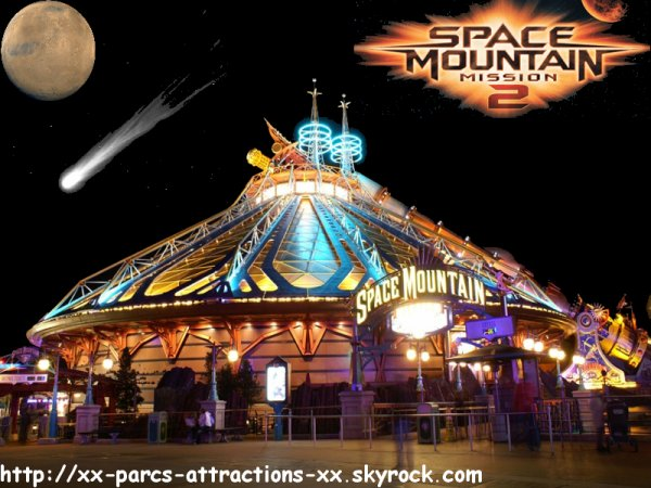 Disneyland Park =>Discoveryland =>Space Mountain Mission 2