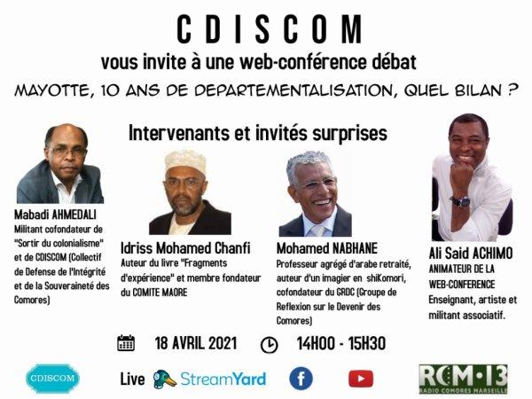 Web-conférence :  Mayotte, 10 ans de départementalisation, quel bilan ?