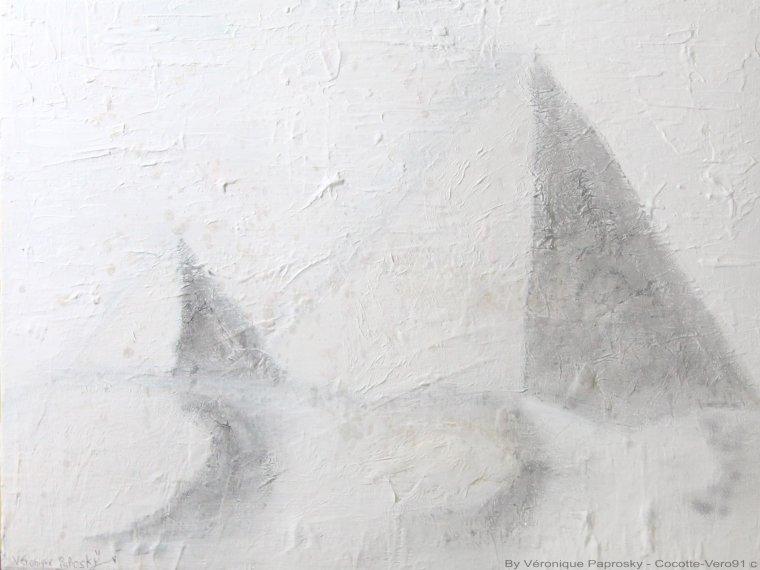 Et si les pyramides étaient dans une tempête de neige?