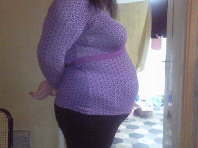 comme promis la photo de mon bidou a 5mois et demi de grossesse