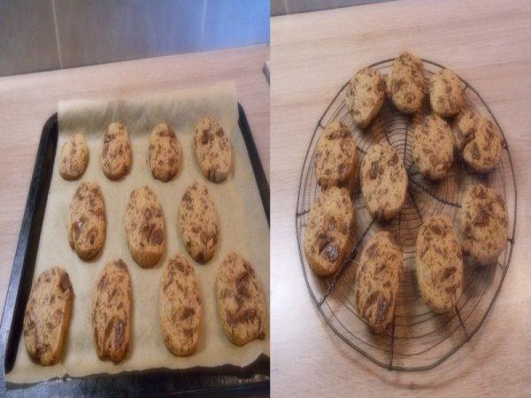 recette de cookies au chocolat pour + ou - 25 cookies