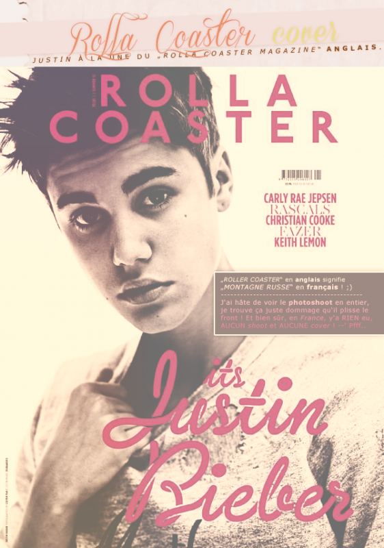 "Rattrapage de new's : Justin en couverture de ""Rolla Coaster"" + scans et petite explications de WE♥POP, Q et Bliss + photoshoot complet pour AOL Music ainsi que pour Mike Lerner et ? + divers"