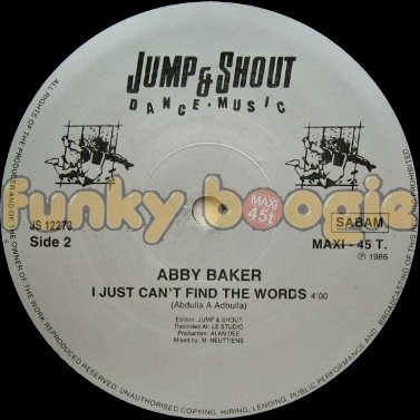 Abby Baker - I Just Can't Find The Words