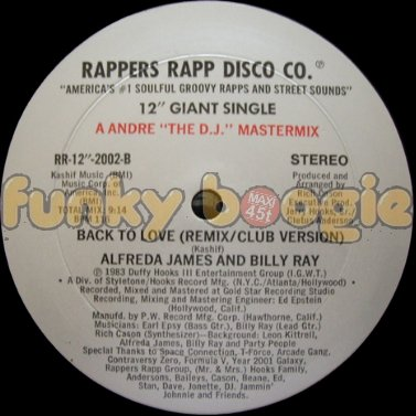 Alfreda James And Billy Ray - Back To Love (Remix / Club Version)