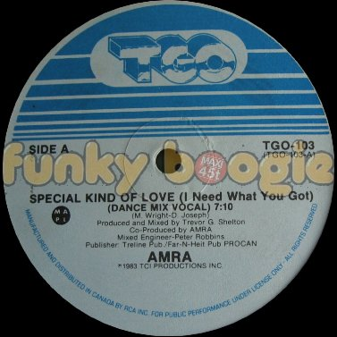 Amra - Special Kind Of Love (I Need What You Got) (Dance Mix Vocal)
