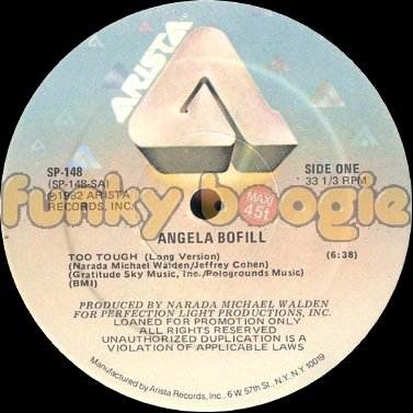 Angela Bofill - Too Tough (Long Version)