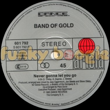 Band Of Gold - Never Gonna Let You Go