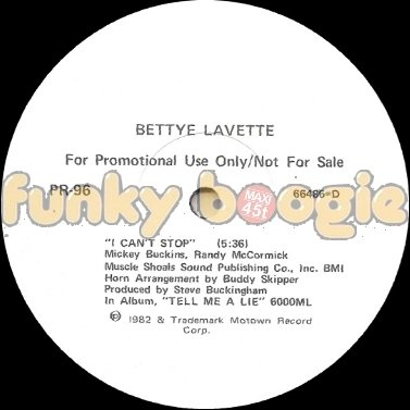 Bettye Lavette - I Can't Stop