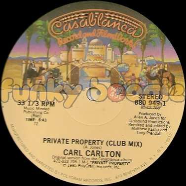 Carl Carlton - Private Property (Club Mix)