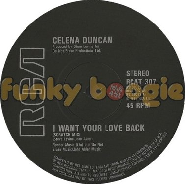 Celena Duncan - I Want Your Love Back (Scratch Mix)