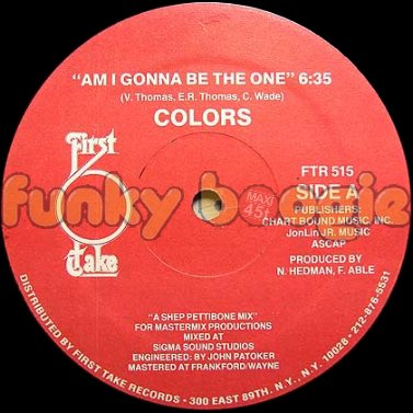 Colors - Am I Gonna Be The One